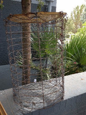 Basket, Wire, 4' tall x 3' diam approx