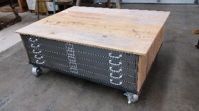 Industrial 5 Drawer Coffee Table