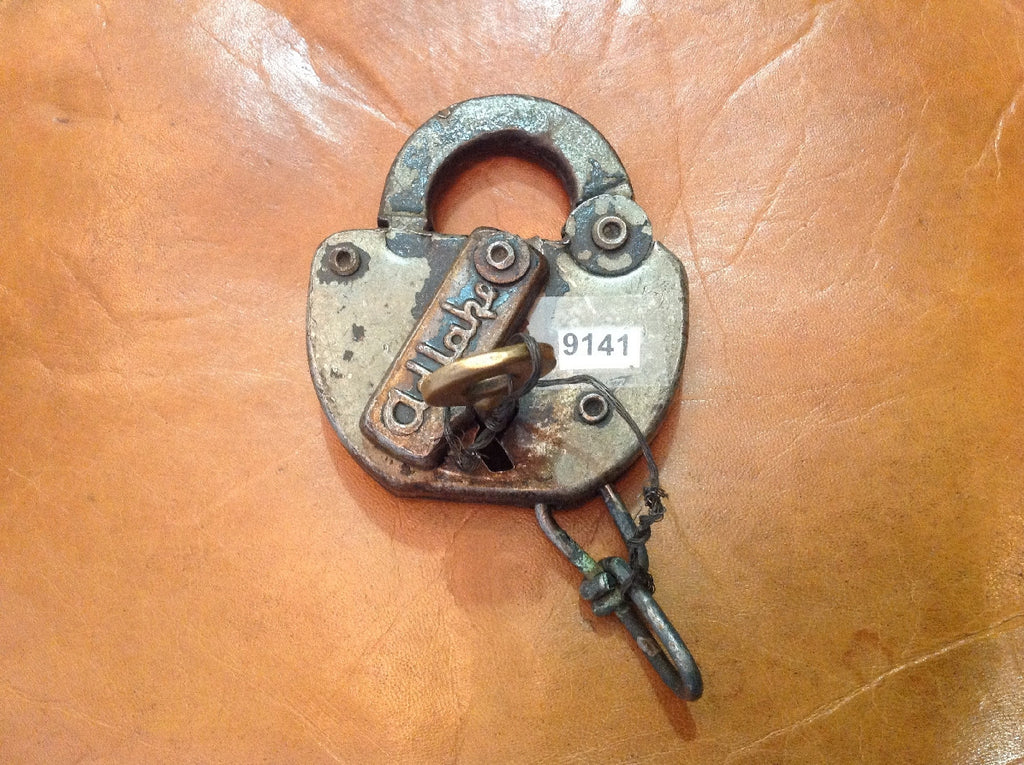 Antique padlock with key
