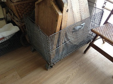 Basket, rectangular, collapsable 4'x2'x3' high