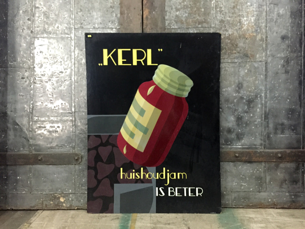 "Dutch Advertising Sign, ""Kerl"""