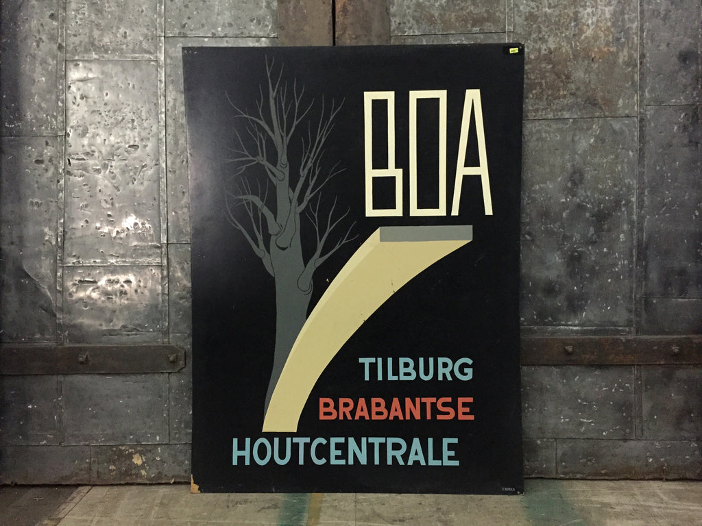 "Dutch Advertising Sign, ""Boa"""
