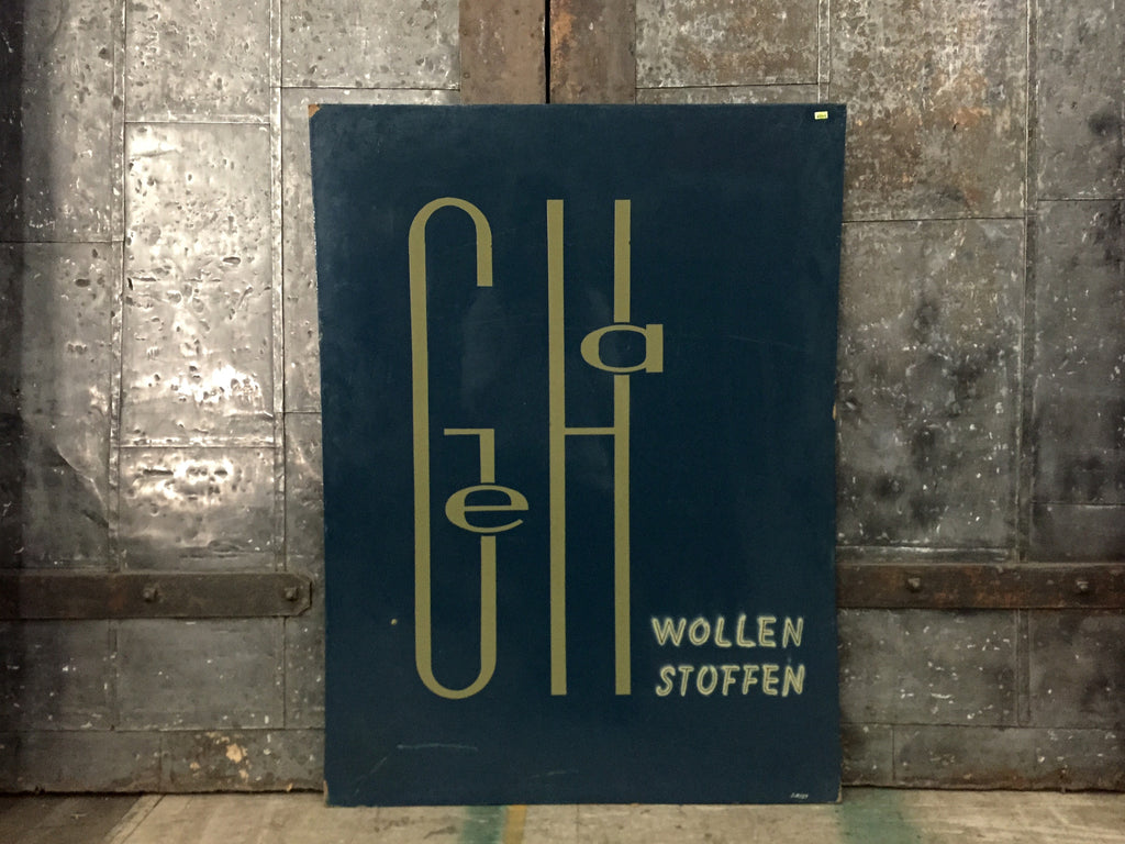 "Dutch Advertising Sign, ""GeHa Wollen"""