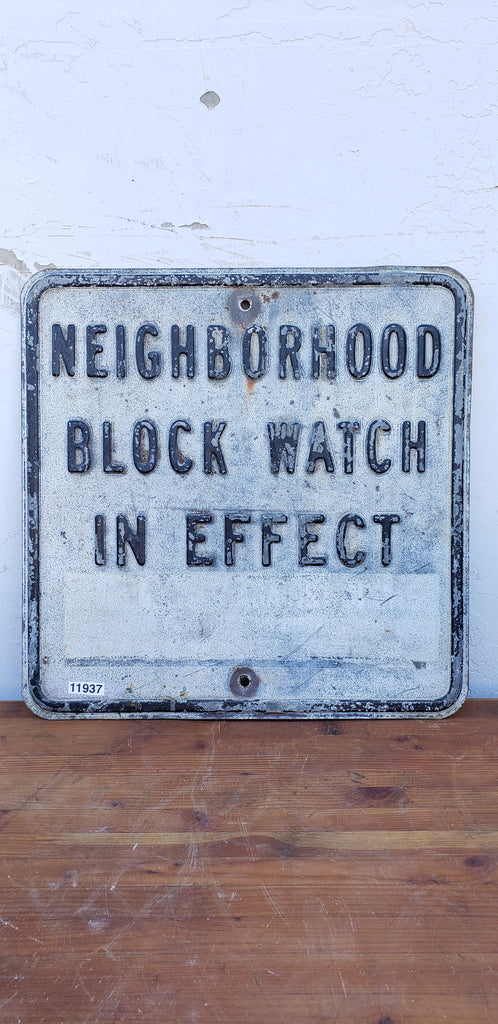 Metal Block Watch Sign