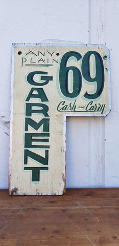"""Any Plain Garment"" Sign"