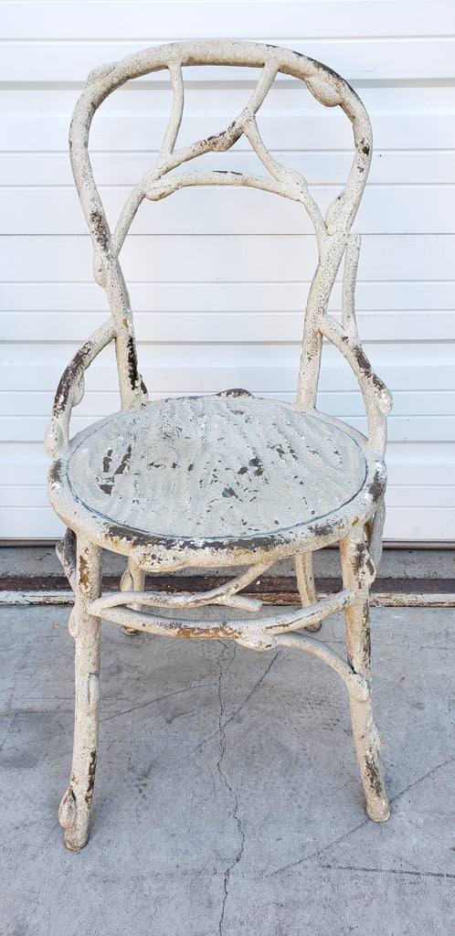 White Faux Bois Chair