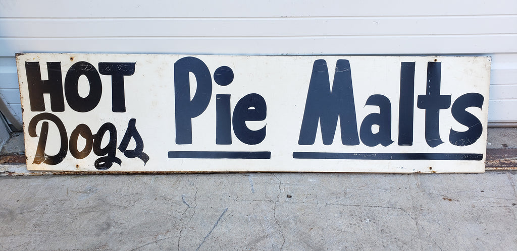 Hot Dogs / Pie / Malts Sign