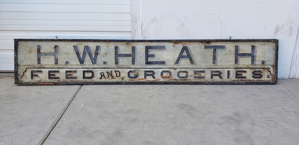 H.W. Heath Feed and Groceries Sign