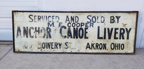 Anchor Canoe Livery Sign