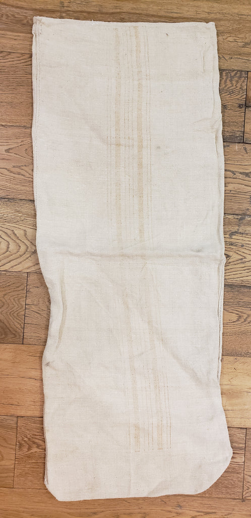 Natural Striped Grain Sack