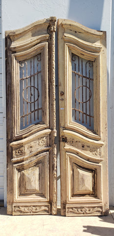 Carved Doors with Iron Inserts