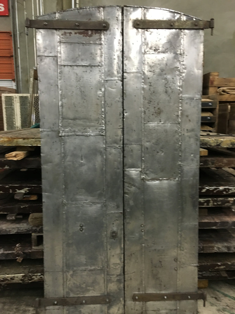 Pair of Industrial Metal Factory Shutter Doors (Medium)
