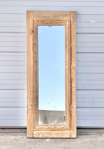 Antique Natural Wood Mirror