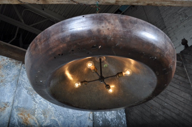 Repurposed Industrial Pendant Light