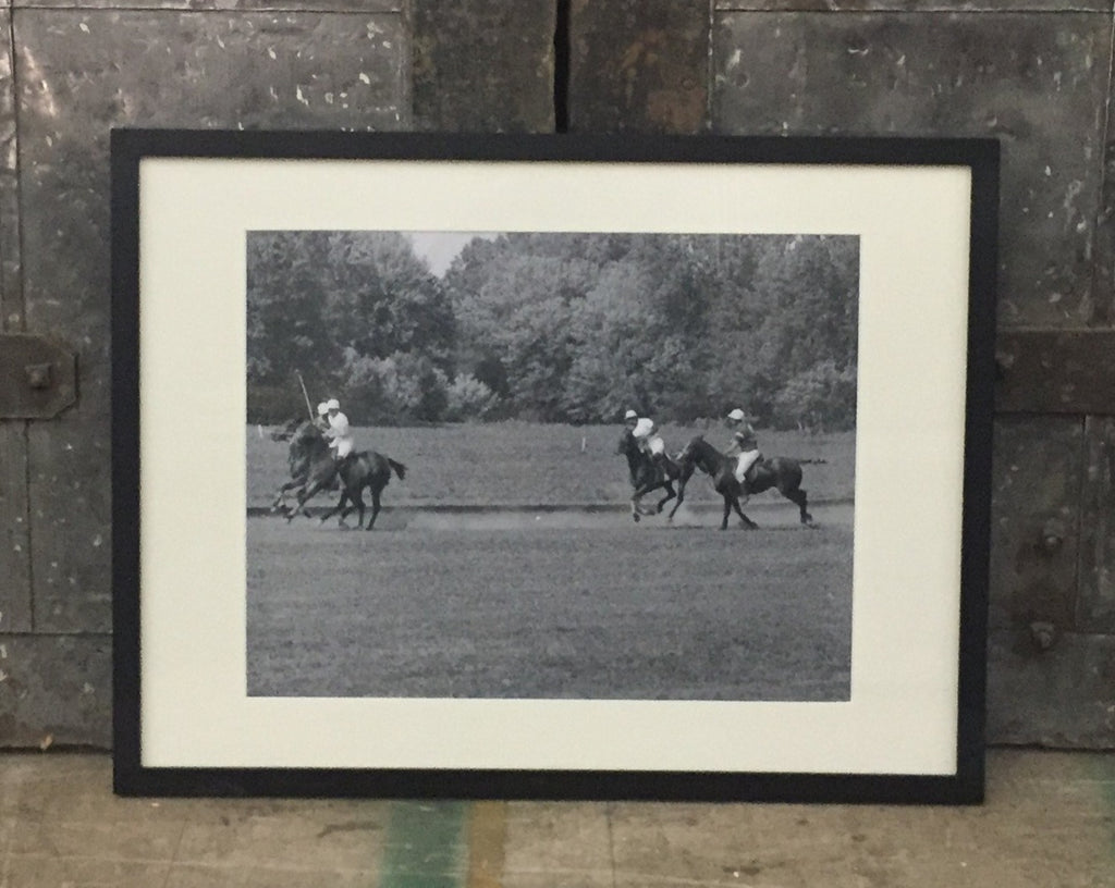 """Art Framed, Polo Match Photo"""