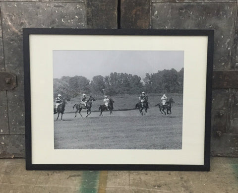 """Art Framed, Polo Game Photo"""