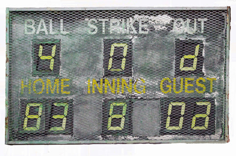"""Baseball Scoreboard"" Metal Sign"