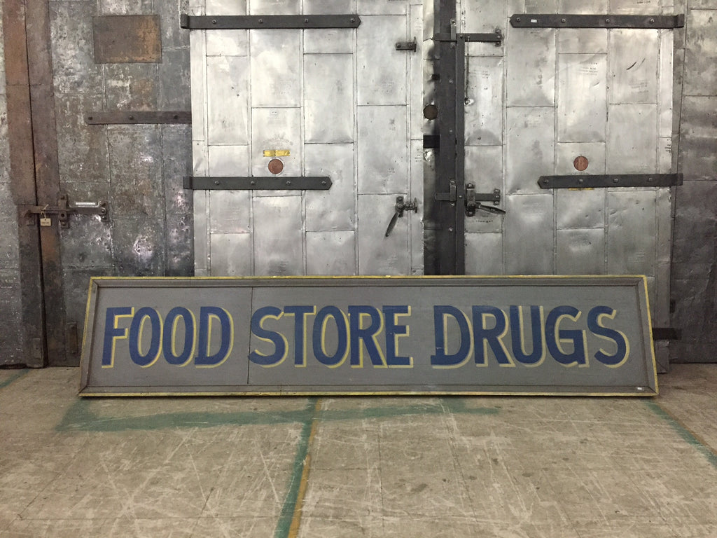 Food Store Drugs Sign