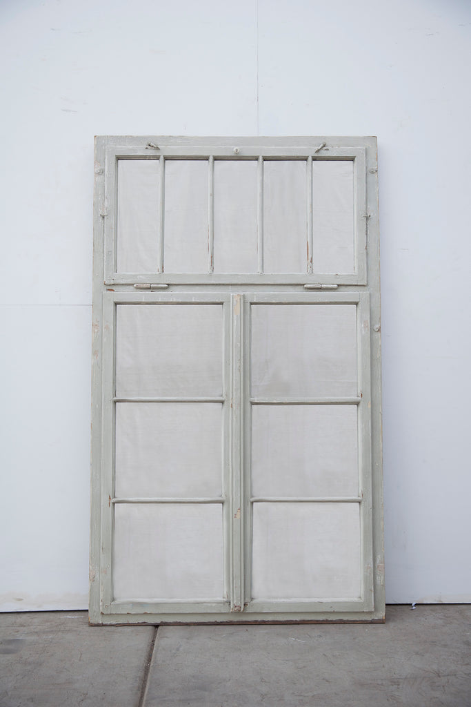 Re-Purposed Gray-White Wood Window/Mirror