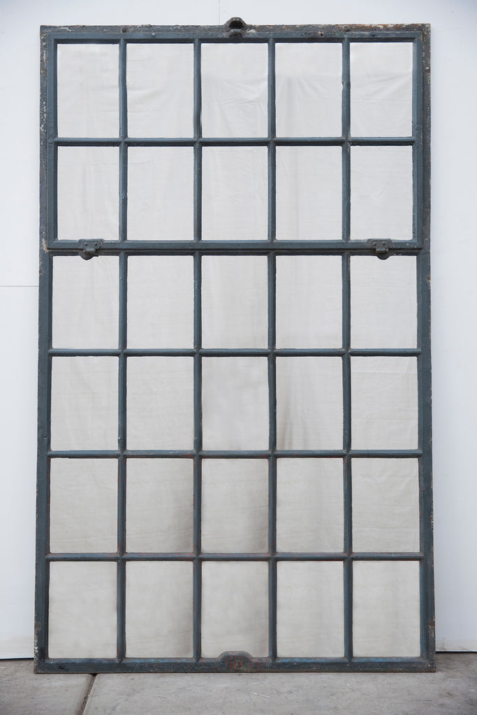 Industrial Iron Factory Window/Mirror, 30 Panes