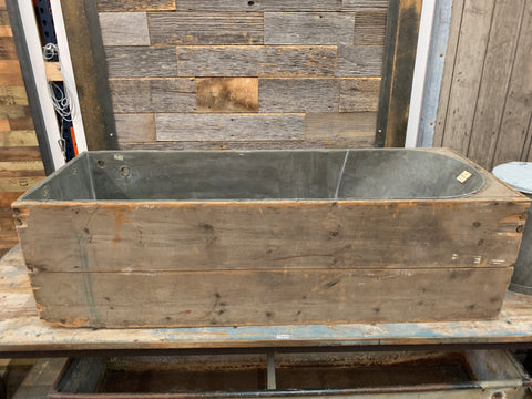 Wood & Zinc Bathtub