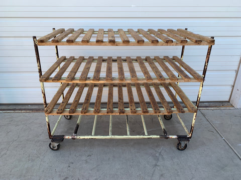 4 Tier Rolling Bakery Rack