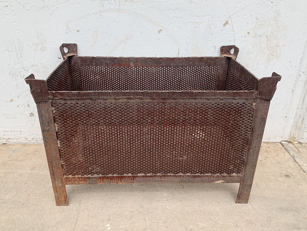 Perforated Rusty Iron Planter