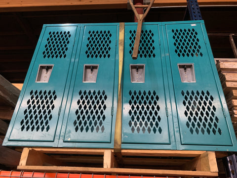 4 Door Blue Lockers