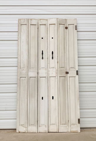 Set of 6 Skinny Grey French Doors