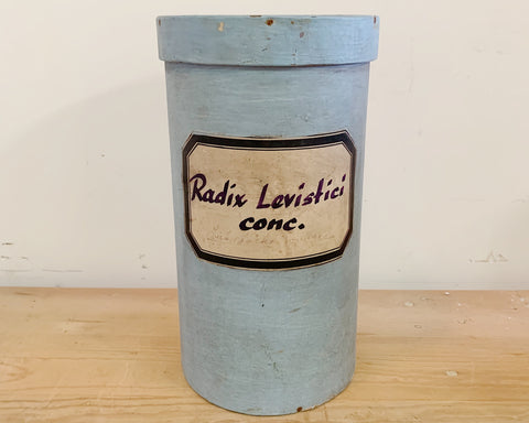 Antique Blue Herb Canister