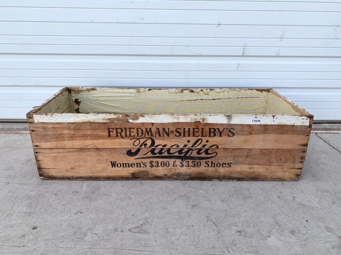 Antique Shoe Display Crate