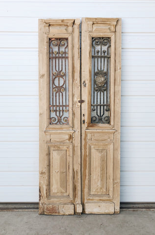 Pair of Doors with Transom