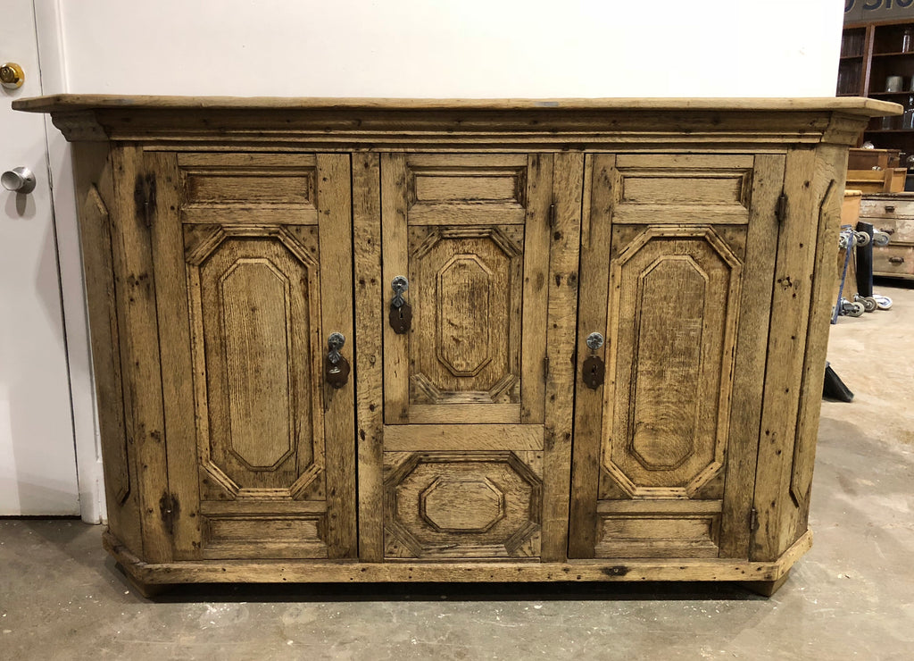 French Natural Wood Sideboard