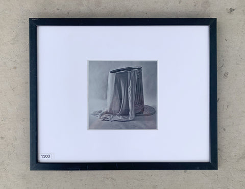 """Garbage Can with Fabric"" Framed Photograph/Art"