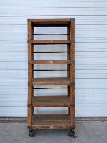 Industrial Wood Rolling Rack