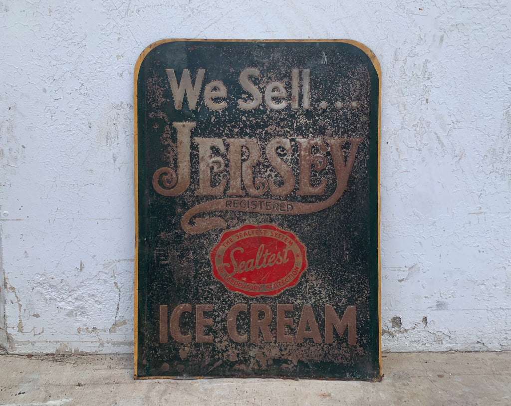 We Sell Jersey Ice Cream Sign