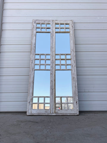 Painted Mirrored Window with Frame