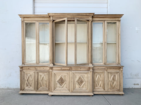 Antique French Wooden Bookcase/Display Cabinet