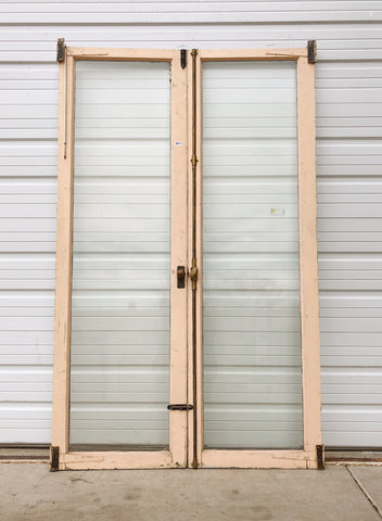 Pair of Beveled Glass Doors