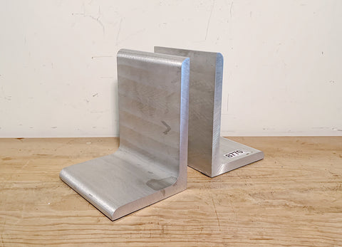 Pair of Silver Bookends (Decor)
