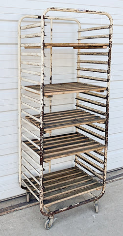 Antique White Bakery Rack
