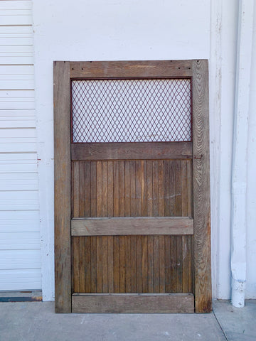 Single Bleached Barn Door