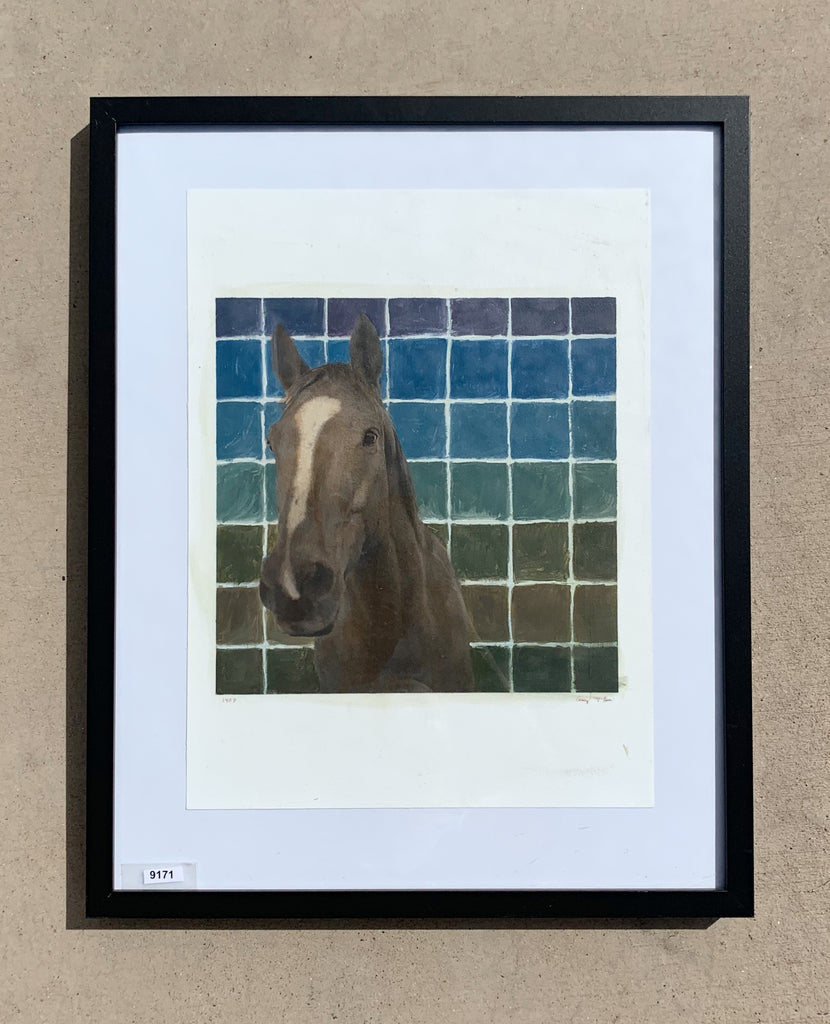 Framed Horse Painting/Art