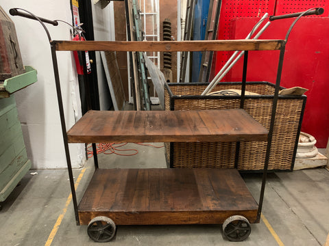 Wood and Iron Bar Trolley