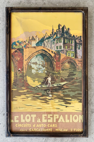 """Le Lot á Espalion"" Framed Travel Poster/Art"