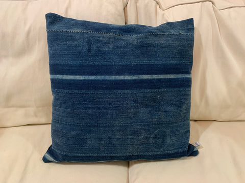 Blue Batik Pillow