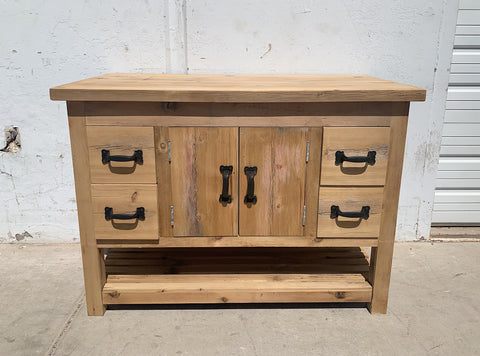 4 Drawer Barn Wood Cabinet