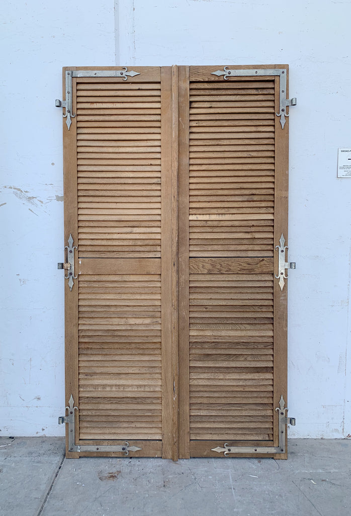 Antique Pair of Wooden Shutters