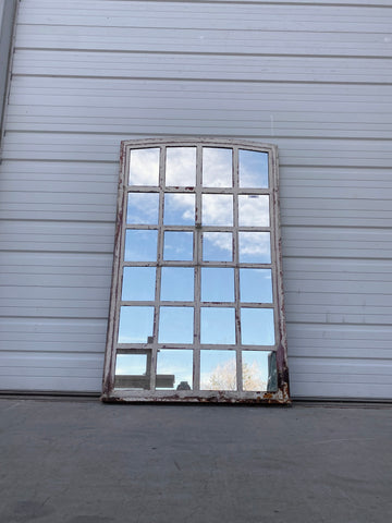 24 Pane Industrial Iron Mirror