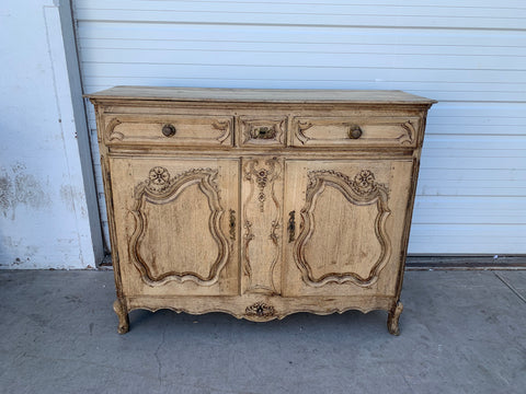 Ornate Bleached Sideboard